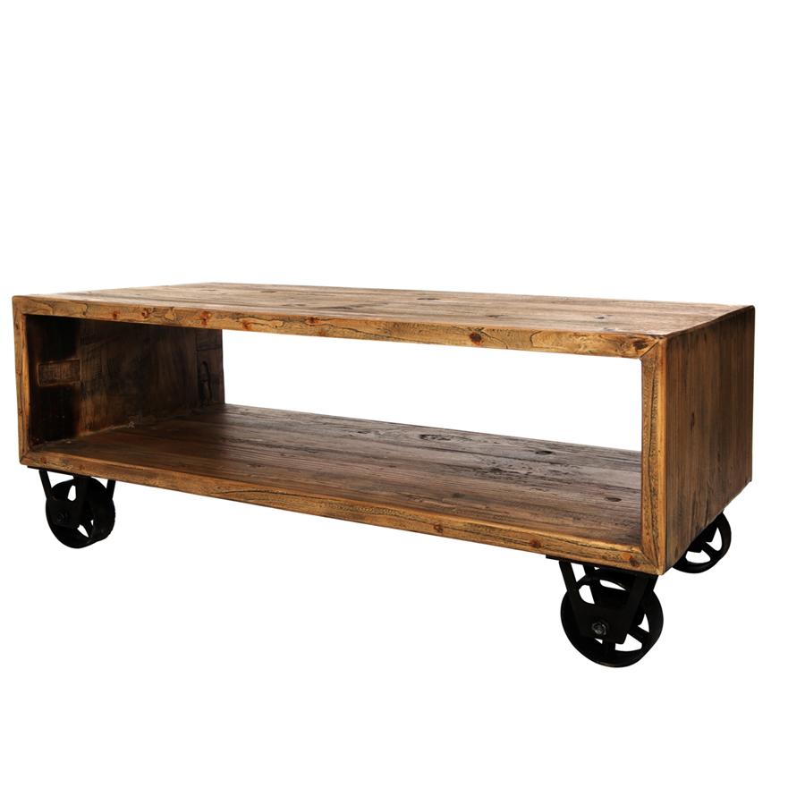 mesa de centro con ruedas el globo mueblesel globo muebles