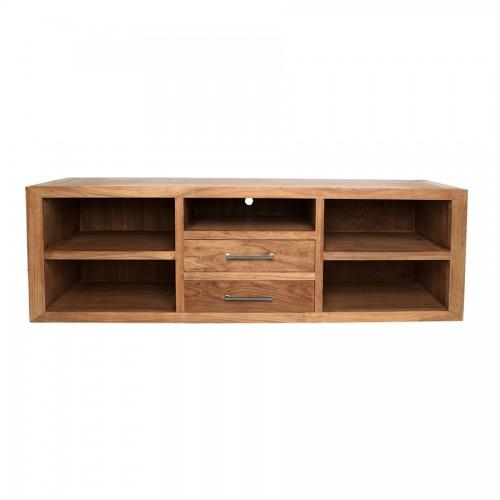 Mesa centro rectangular hierro y madera el globo - Muebles de madera y hierro ...