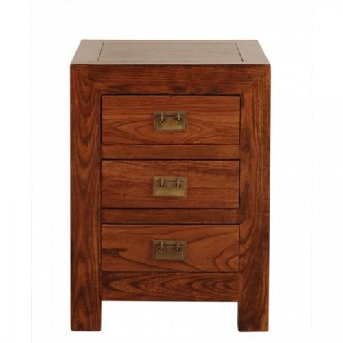 Mesita cuadrada 60 1 cajon y puerta madera el globo mueblesel globo muebles - Mesitas de noche ...
